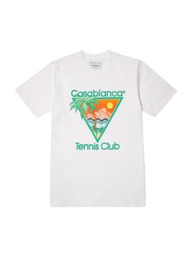 Casa Graphic Printed T-Shirt WHITE TENNIS CLUB ICON
