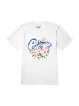 Casa Graphic Printed T-Shirt WHITE HIBISCUS