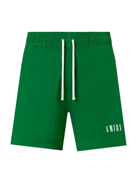 LOGO SWIM TRUNK, Tennis green