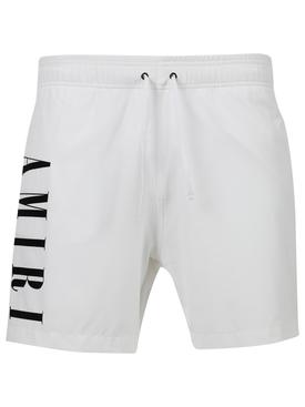 VERTICAL LOGO SWIM TRUNKS WHITE