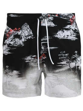 Aloha beach cabana swim short, black