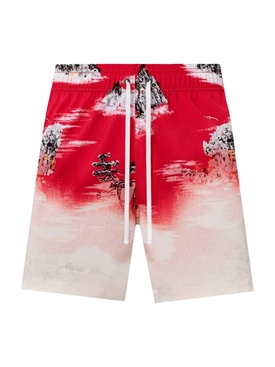 Aloha beach cabana swim short, red