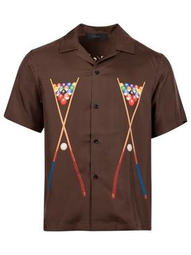 Billards Silk Shirt Brown