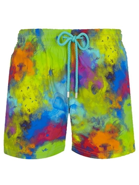 Multicolored Moorise Holi swim shorts