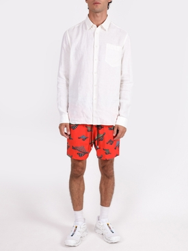 Red moorise swim shorts