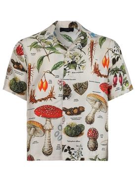Psychedelic short sleeve shirt, Natural Beige
