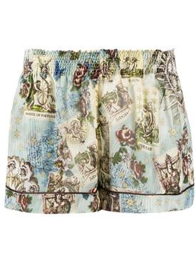 For Restless Sleepers - Multicolored Wheel Of Fortune Shorts - Women
