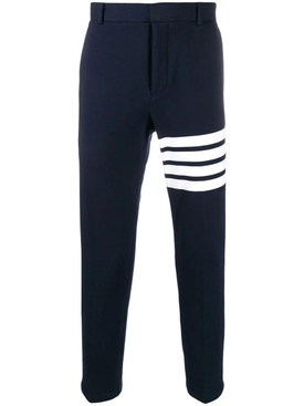 4-Bar chino trousers NAVY