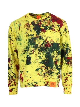 Yellow Multicolored Hand-Dyed Sweatshirt