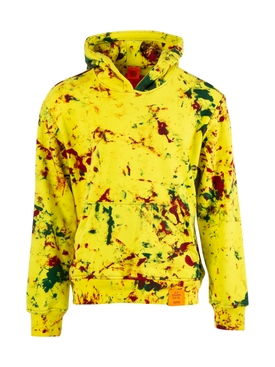 Yellow Multicolored Hoodie