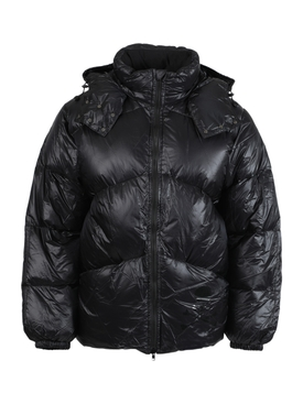 x Rocky Mountains HIGH NECK PUFFER JACKET, BLACK