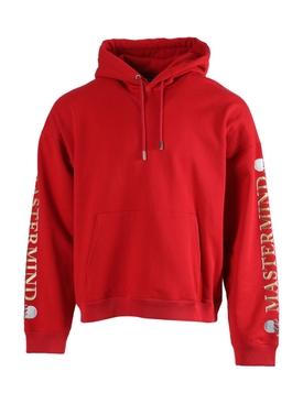 Red skull logo hoodie