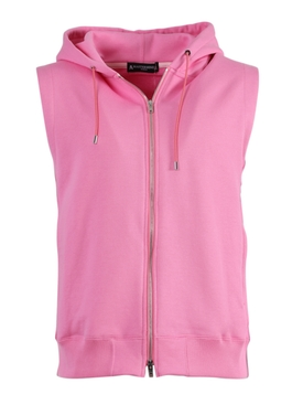 Pink Skull Logo Hooded Vest