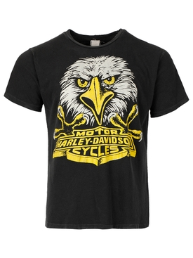 Harley Davidson Eagle Face T-shirt Coal Black