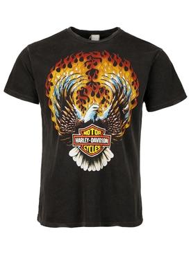 Harley Davidson Eagle Flames T-shirt Black
