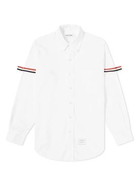 Classic Oxford Armband Shirt WHITE