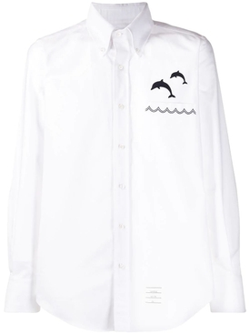 White Dolphin Button-Down Shirt