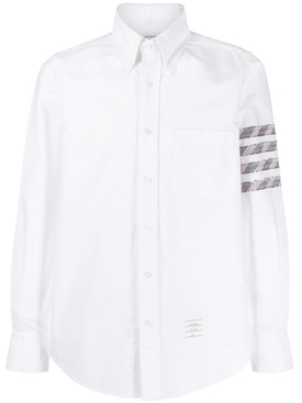 White oxford 4-Bar shirt