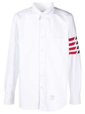 CLASSIC 4-BAR STRAIGHT FIT OXFORD SHIRT White
