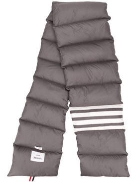 Grey Padded 4-Bar Scarf