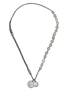 Perlicha Silver and Pearl Necklace