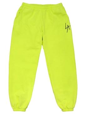LA Slash Fleece Pant Neon Yellow