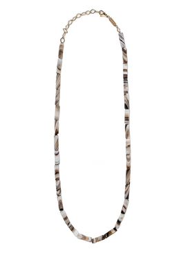 WHITE AGATE BEAD NECKLACE