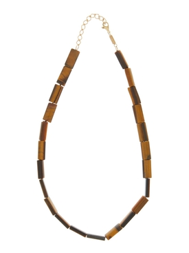 TIGER'S EYE BEAD NECKLACE