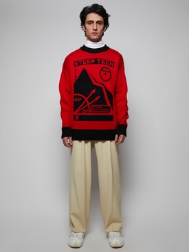 Red and black Steep Tech sweater