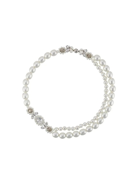Simone Rocha - Pearl And Crystal Cluster Necklace - Women