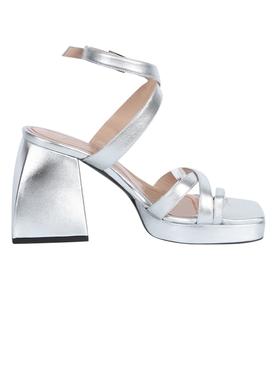 Silver Bulla Siler Block Heel Sandal