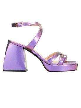 Purple Bulla Siler Block Heel Sandal