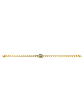 Radiant Cut Diamond Curb Bracelet