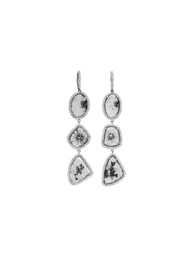 Slice Diamond Triple Drop Earrings