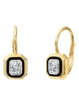 Radiant Cut Diamond Single Drop Earrings
