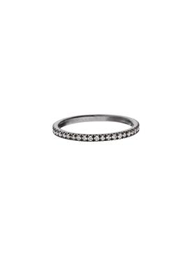 Blackened Gold Diamond Ring