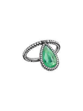 Emerald Flip Ring