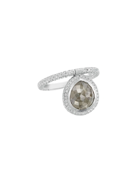 Organic Gray Diamond Flip Ring