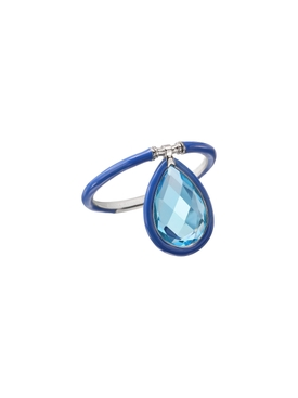 Blue Medium Enamel Flip Ring