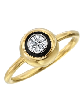 Round Brilliant Cut Diamond Stacking Ring