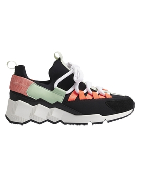 Trek Comet Multi-panel Sneaker BLACK MINT PEACH