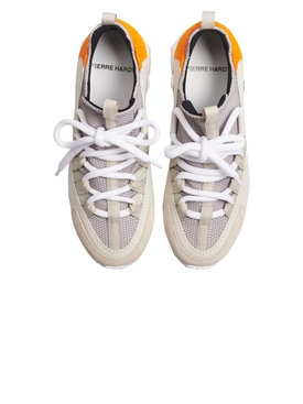 Trek Comet Multi-panel Sneaker OFF WHITE AND ORANGE
