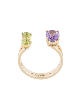 Amethyst and Peridot Dots Ring