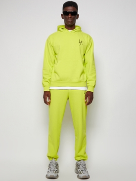 LA Slash Hooded Fleece Sweater Neon Yellow