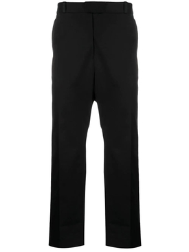 Cropped Straight-leg Pants Black BLACK