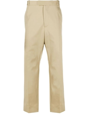 Cropped Straight-leg Pants Black BEIGE