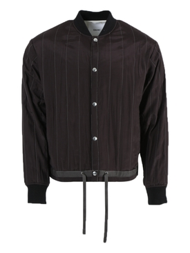 Oamc - Brown Striped Bomber Jacket - Men