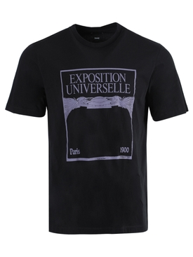 Exposition Universelle Graphic T-shirt BLACK