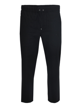 Drawcord jogger pants BLACK