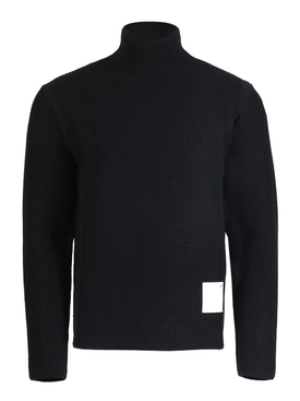 Black mock collar knitted spirit jumper
